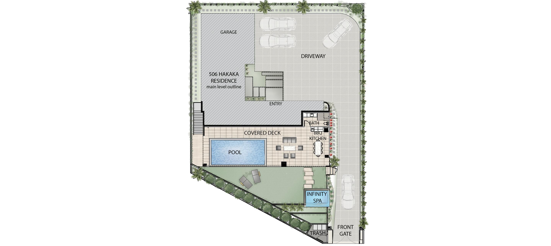 Floor Plan Lower Level 506 Hakaka Place