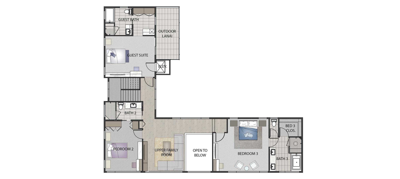 Floor Plan Upper Level 506 Hakaka Place